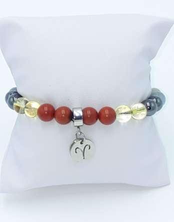 bracelet bélier signe astrologique zodiaque pierres naturelles